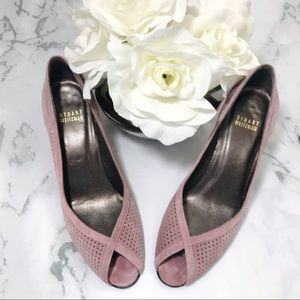 Stuart Weizman Mauve Suede Perforated Heels